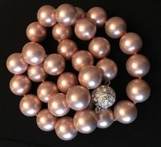 Faux Pink Pearl Necklace by Mybestfinds on Etsy