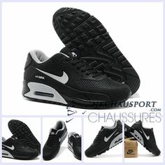 finest selection 51538 4ca92 Find Mens Nike Air Max 90 KPU Black Silver Shoes online or in Nikelebron.  Shop Top Brands and the latest styles Mens Nike Air Max 90 KPU Black Silver  Shoes ...