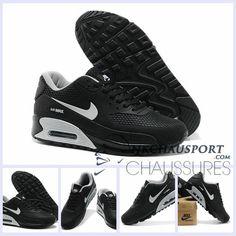 timeless design d2bee 58faf Nike Air Max 90 L  Été   Meilleur Chaussures Running Homme Noir-5