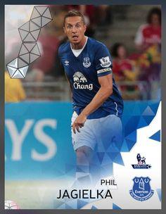 Phil Jagielka Everton (Barclays Premier League) Silver Parallel Card 2016 Topps KICK
