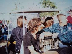 """runawaytosea:""""Liam with Richard Ashcroft."""" Liam drives around Knebworth Park in Hertfordshire in a golf buggy.Other photo """" """" The Verve, Liam Gallagher, Oasis, Golf, Park, Couple Photos, Instagram, Couple Pics, Turtleneck"""