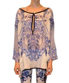 Roberto Cavalli Silk caftan with drawstring waist | Lindelepalais.com 13263