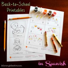 Mommy Maestra: Free Back-to-School Printables in Spanish