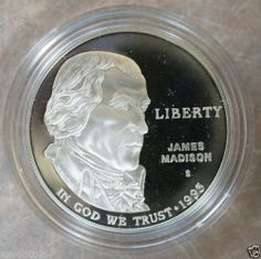 1993 s James Madison Bill of Right Silver Commemorative Dollar | eBay