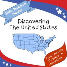 Great way for students to explore their own or a new state. Now with fun bonus activity! Perfect for ESL classes for students to learn about their new home! Individual states also available!