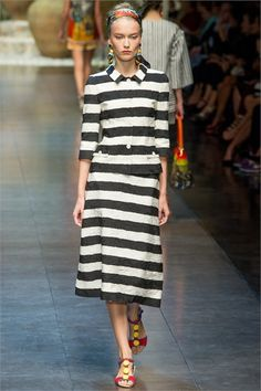 Dolce & Gabbana, Spring/Summer 2013 Ready-To-Wear, Stripe Me Baby in Black and White.