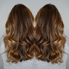 Hairpainting balayage foilayage by Kelly, perfect soft curls by Gabby of Kelly Hylton and Company