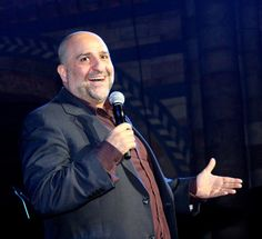 The stand up comedian, Omid Djalili @omid9 performs on stage at the Chain of Hope Annual Gala Ball last Thursday night. For more information, visit: www.backesandstrauss.com