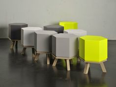Low stool HEX STOOL by Sixinch | design Studio Segers