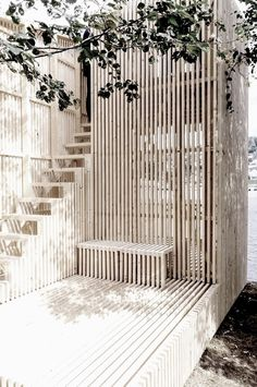 Timber Slat Screen