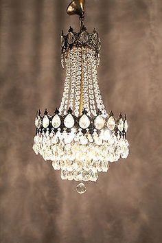 Old fashioned crystal chandeliers 94