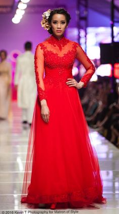 Vietnamese-American designer, Jacky Tai, sends his bridal collection of wedding ao dai's and wedding gowns down the catwalk at Viet Fashion Week Fashion Week 2016, Ao Dai, Bridal Collection, Frocks, Catwalk, Wedding Gowns, Thailand, Runway, Formal Dresses