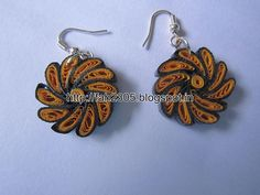 Handmade Jewelry - Paper Quilling Earrings (Twisted Petals) (1)
