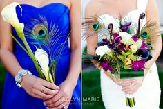 LOVE the blue dress with white calla lillies!!