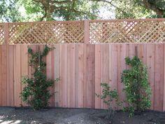 Board-on-Board Solid Board Fence with lattice