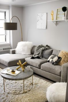 Don't like that it's all grey but love the general coziness for the bedroom.