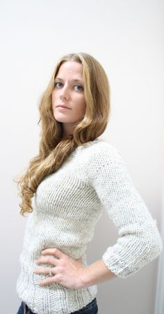 PATTERN  Oatmeal Pullover by janerichmond on Etsy  This is my next knitting project.  I have a beautiful jewel tone variegated purple yarn.