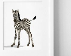 Baby Animal Nursery Art Prints modern minimalist by PaperLlamas