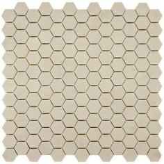 Merola Tile Old World Hex Antique White 12 in. x 11-3/4 in. Unglazed Porcelain Mosaic Floor and Wall Tile