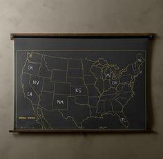 CHALKBOARD US MAP
