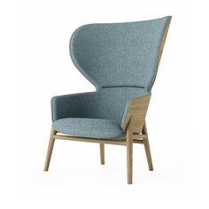 Hygge high back lounge chair with 4 leg base, SHG3