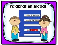 Palabras en slabas is a great way for students to play with words. Included are words and pictures for each letter of the alphabet (over 200 words in all). Great to use in literacy station o during intervention. It also comes with no background color for your choice!*As a suggestion is best to print the colored file.