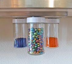 hanging  magnetic bead storage   Would this work for spices?