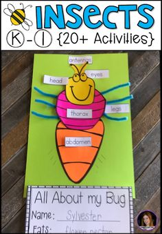 Insect {20+ Activities} for Kindergarten. Are you looking for a factual unit to introduce insects in your kindergarten and first grade classroom? Our insect unit is just what you need! Kindergarten Units, Activities For Kindergarten, Kindergarten Preparation, First Grade Activities, Preschool Centers, Spring Activities, Preschool Ideas, Teaching Ideas, Insect Crafts