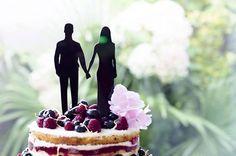 Weeding cake toppers: Modelo Romance por LETRASSIMBOLOSYMAS en Etsy
