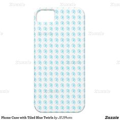 Phone Case with Tiled Blue Twirls iPhone 5 Covers Iphone 11, Apple Iphone, Plastic Case, Photographs, Phone Cases, Cover, Nature, Prints, Blue