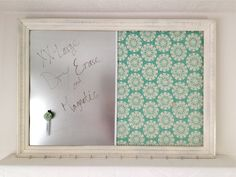 Extra Large Shabby Chic Dry Erase, Magnetic Memo Board, Chick Wire Frame, Peg Board, Mail holder,Photo Board. $75.00, via Etsy.