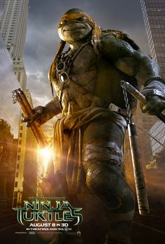 Michelangelo - TEENAGE MUTANT NINJA TURTLES - Cool New Trailer and 4 Posters! \luv u mikey BOOYAKASHA!!