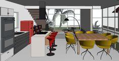 Project Accomplished – Loft of m² – Brusque / SC – Eduardo Boeing Mini Loft, Tiny House Layout, Tiny House Design, House Layouts, Apartment Layout, Apartment Design, Apartment Living, Apartment Ideas, Living Room