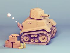 Just a small tank designed by Yanni Stathopoulos. Prop Design, Low Poly Car, Poly Tanks, 3d Cinema, 3d Modelle, Modelos 3d, Low Poly Models, 3d Artwork, Toys