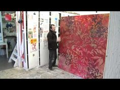 I am in love with large brushes!!! ▶ Art contemporain : le peintre Jean-Jacques PIGEON - YouTube