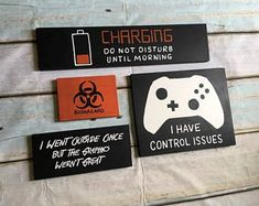 Xbox I Have Control Issues / Charging / Biohazard / Went Outside Graphics wern't great/ Game Room Decor, Teen Room Decor, Boys Room