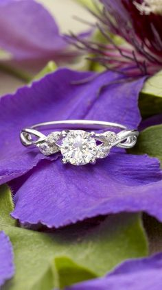 Marquise diamond buds dazzle in this nature-inspired trellis ring.