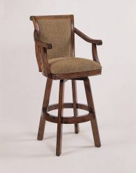 Lowest price online on all Powell Furniture Brandon Swivel Bar Stool in Warm Cherry -
