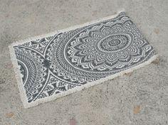 Nyomott mintás szőnyeg 50*150 szürke