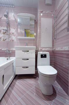 Сантехнический короб уменьшен, освободилось место под широкий мойдодыр с зеркалом(Ремонт санузла в доме II-18-02/12)