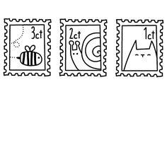 Hollandse postzegels  snail mail stamps Digi Stamps, Postage Stamps, Templates Printable Free, Free Printables, Envelope Art, Addressing Envelopes, Pocket Letters, Adult Coloring, Projects To Try
