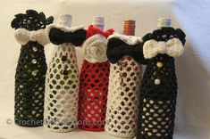 Tuxedo Tote Bag Tuxedo Wine Bag Wine by CrochetGiftSolutions