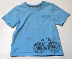 Bicycle Tee - Shwin and Shwin Graphic Shirts, Tee Shirts, Bicycle Women, Textiles, Fabric Markers, Kids Patterns, Diy Shirt, Cool Tees, Fabric Decor