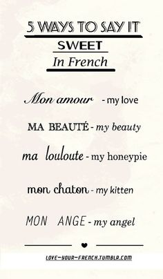 Sweet whispers in French !