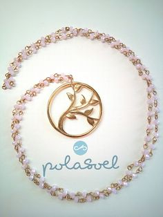Rosary necklace , golden plated with pink nude stones and golden element/Christmas gifts/Gifts by polasoeljewelry on Etsy Rosary Necklace, Necklaces, Bracelets, Plating, Stones, Nude, Unique Jewelry, Handmade Gifts