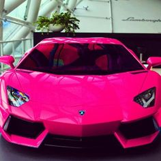 Hot Pink Lamborghini #customized cars #celebritys sport cars