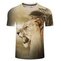 49f2f311fd9b US $7.58 34% OFF|2018 Animal 3D tshirt Men Women T shirt Lion t shirt  Casual Tee Streatwear Top Short Sleeve Camiseta O neck Asian size s 6xl-in  T-Shirts ...