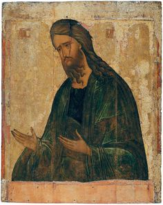 St John The Baptist, Follower of Andrei Rublev, Second quarter of the 15th century, 105 × 83.5 cm, The Andrei Rublev Museum of Early Russian Art, Moscow, Russia.