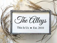 Celebrate your family name with this beautiful personalized wood sign. This beauty makes an amazing Rustic Bathroom Designs, Rustic Bathroom Decor, Entryway Decor, Farmhouse Decor, Farmhouse Signs, Bathroom Ideas, Kitchen Decor, Bedroom Decor, Office Decor