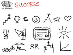 Visual Metaphors about success - Success in drawings Visual Literacy, Visual Learning, Visual Thinking, Design Thinking, Visual Note Taking, Visual Resume, Visual Metaphor, Zentangle, Sketch Notes